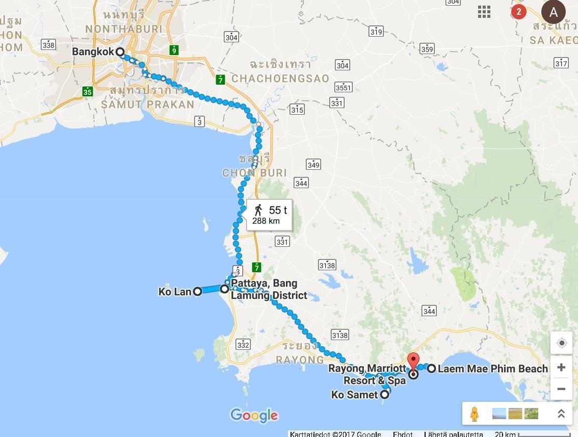 Thaimaa Matkaopas Siaminlahden Rannikolle Appamatkustaa