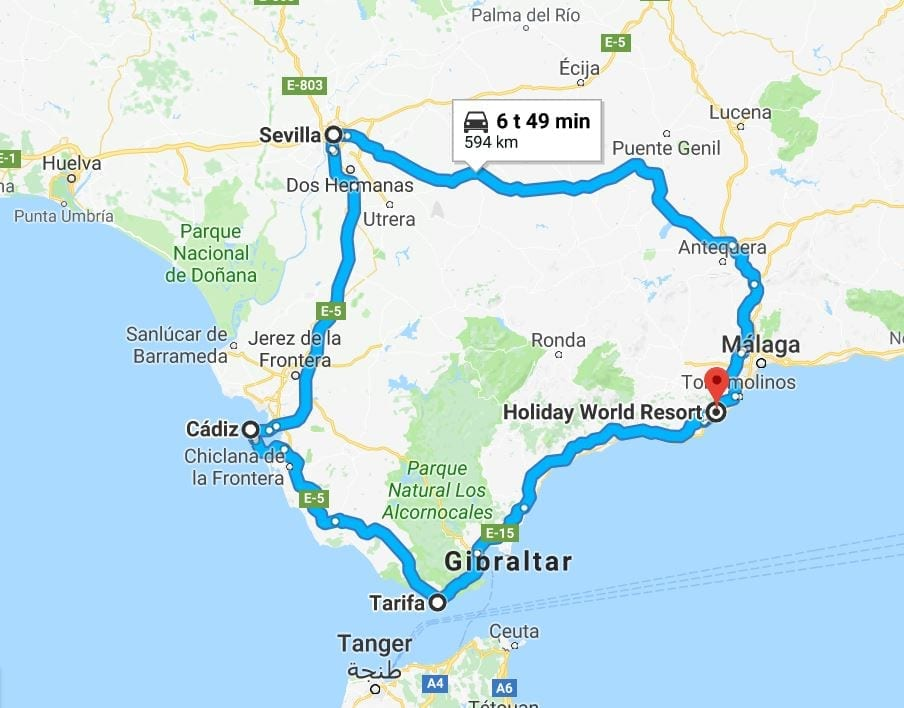 Andalusiaa Autoillen Sevilla Ja Tarifan Yllatysrannat Appamatkustaa