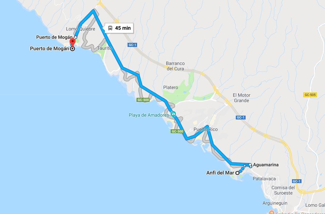Nain Liikut Bussilla Gran Canarialla Appamatkustaa